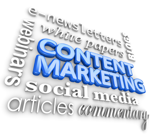 Content Marketing Word 3D Collage Digital Business Communication